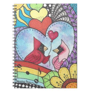 愛スタイルのノートの基本的な鳥 ノートブック