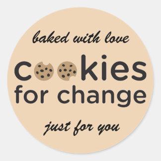 愛ステッカーと焼いたな変更のためのクッキー ラウンドシール