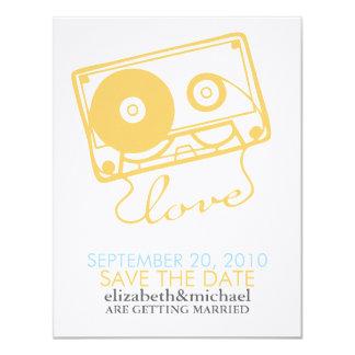 愛セーブ・ザ・デート案内の組合せテープ カード