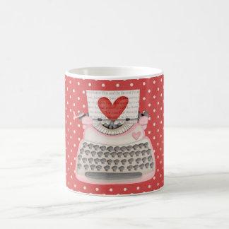 愛タイプライター コーヒーマグカップ