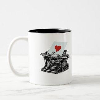 愛タイプライター ツートーンマグカップ