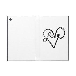 愛タイポグラフィの文字の芸術 iPad MINI ケース