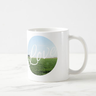 愛タイポグラフィの自然の写真撮影の芸術 コーヒーマグカップ