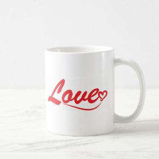 愛タイポグラフィ コーヒーマグカップ