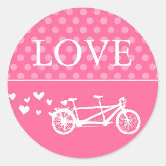 愛タンデムバイクのステッカー ラウンドシール
