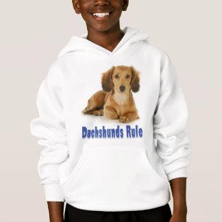 愛ダックスフントの小犬のスエットシャツ