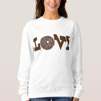 愛チョコレートドーナツドーナツバレンタインデーの食糧 スウェットシャツ
