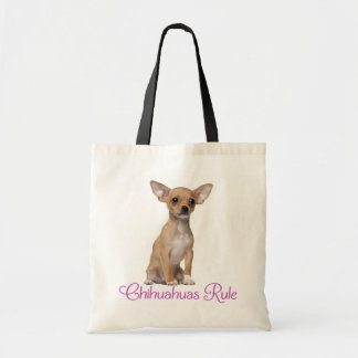愛チワワの小犬のキャンバスのトートバック トートバッグ