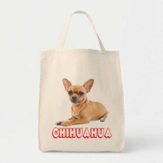 愛チワワの小犬のキャンバスの食料雑貨のトートバック トートバッグ