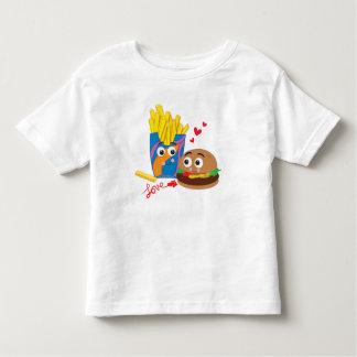 愛ティーの幼児のハンバーガー及び揚げ物 トドラーTシャツ