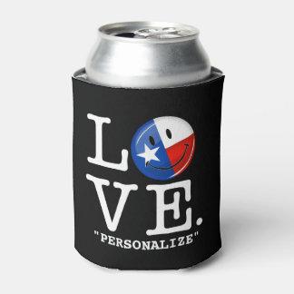 愛テキサス州の微笑の旗 缶クーラー
