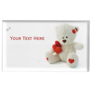 愛テディのバレンタインのカスタムなテーブルの帯出登録者 テーブルカードホルダー