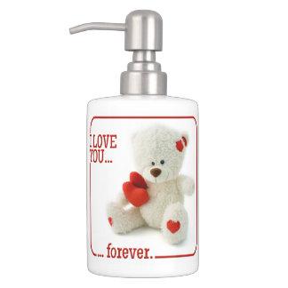 愛テディのバレンタインの浴室セット バスセット