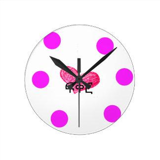愛デザインのアムハラ語の言語 ラウンド壁時計