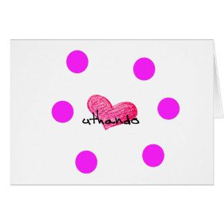 愛デザインのコーサ族の言語 カード