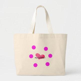 愛デザインのタジク語の言語 ラージトートバッグ