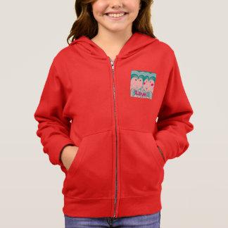 愛デザインの女の子のフリースのフード付きスウェットシャツ パーカ