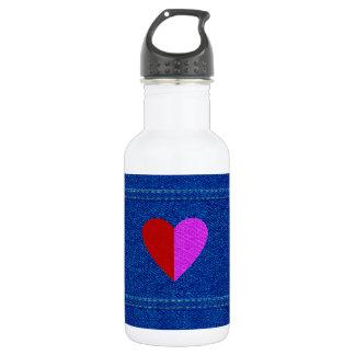 愛デニム18のoz。 白い ウォーターボトル