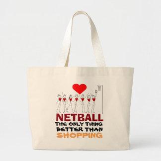愛ネットボールの引用文およびプレーヤーの位置のデザイン ラージトートバッグ