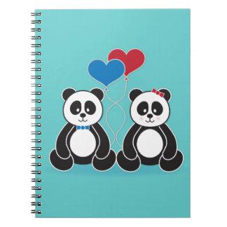 愛ノートの甘いパンダ ノートブック