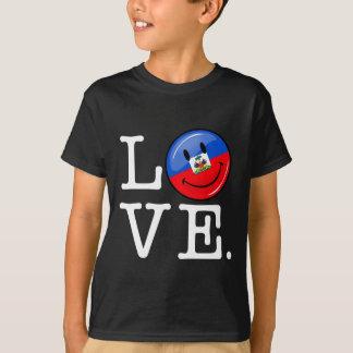 愛ハイチの微笑の旗 Tシャツ