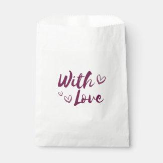愛ハートとの紫色-結婚式、ギフト フェイバーバッグ