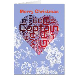 愛ハートのネットボールのクリスマス カード