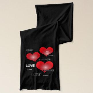 愛ハートのバレンタインのスカーフ スカーフ