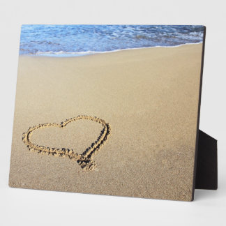 愛ハートのビーチ フォトプラーク