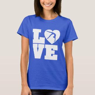 愛ハートの体操の女の子の女性のワイシャツのフード付きスウェットシャツ Tシャツ