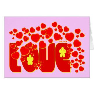 愛ハート-ジョンの13:34 カード
