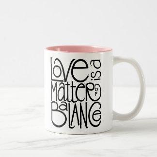 愛バランスのマグ ツートーンマグカップ