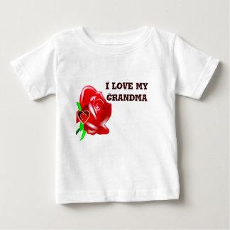 愛バラ及びHeart_ ベビーTシャツ