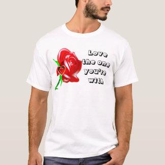 愛バラ及びHeart_ Tシャツ
