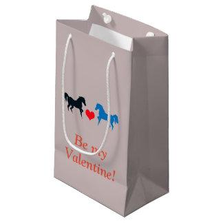愛バレンタインのギフトバッグの馬 スモールペーパーバッグ