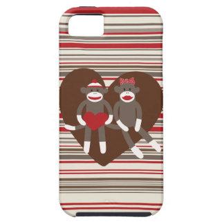愛バレンタインデーのハートのギフトのソックス猿 iPhone SE/5/5s ケース