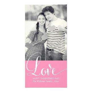 愛バレンタインデーの写真カード カード
