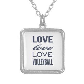 愛バレーボールのネックレス シルバープレートネックレス