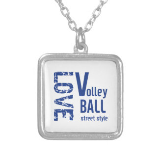 愛バレーボールの通りのスタイル シルバープレートネックレス