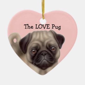 愛パグ犬のオーナメント セラミックオーナメント