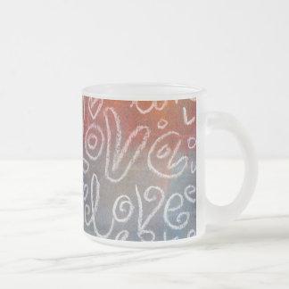 愛パステル調のスタイル2の凍結するガラスマグ フロストグラスマグカップ