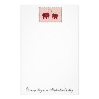 愛パッチワークの陽気でかわいい象 便箋