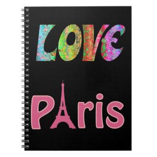 愛パリのノート ノートブック