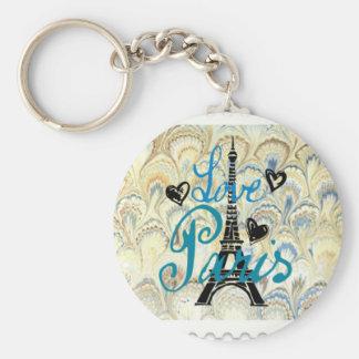 愛パリの切手のプリント キーホルダー