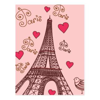 愛パリの都市 ポストカード
