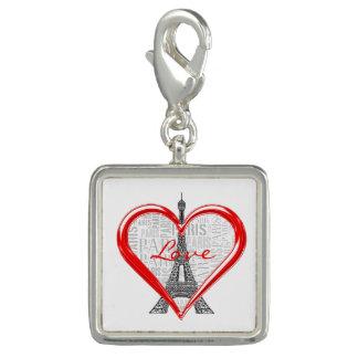 愛パリ|の赤いハート チャーム