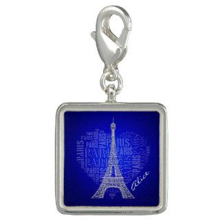 愛パリ|の青のヴィンテージのギフト チャーム