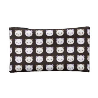 愛パンダの黒 コスメティックバッグ