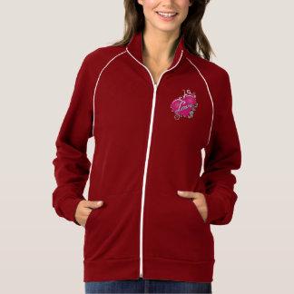 愛ピンクのハートの女性のトラックジャケット ジャケット
