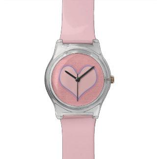 愛ピンクのハート 腕時計